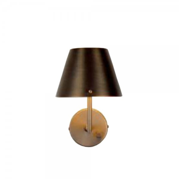 Traditional Antique Brass Wall Light with Dimmer Switch