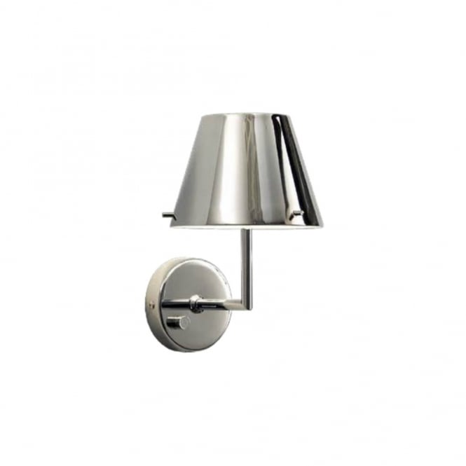 Modern chrome wall light with dimmer switch great bedside light jin modern chrome dimmable wall light aloadofball Image collections