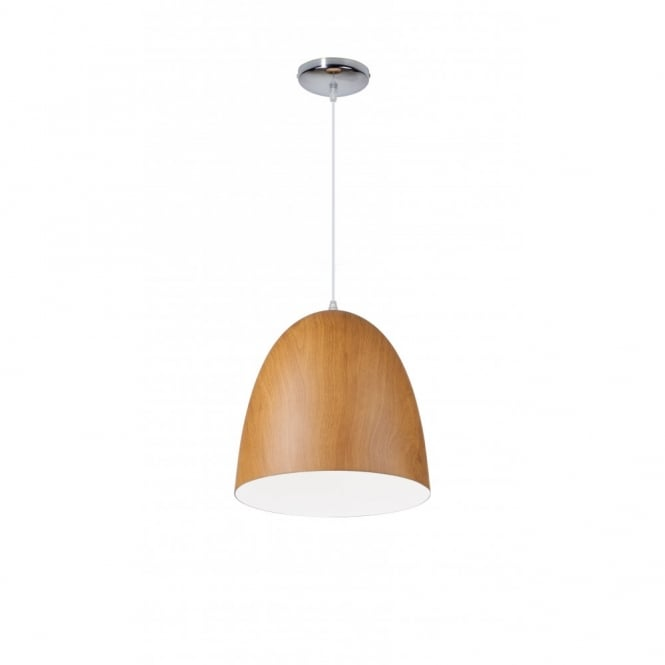 Linea Verdace MAGNUM contemporary standard single ceiling pendant in dark wooden finish