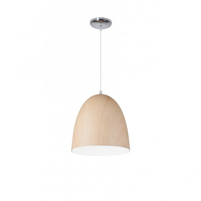 Linea Verdace MAGNUM contemporary standard single ceiling pendant in light wooden finish