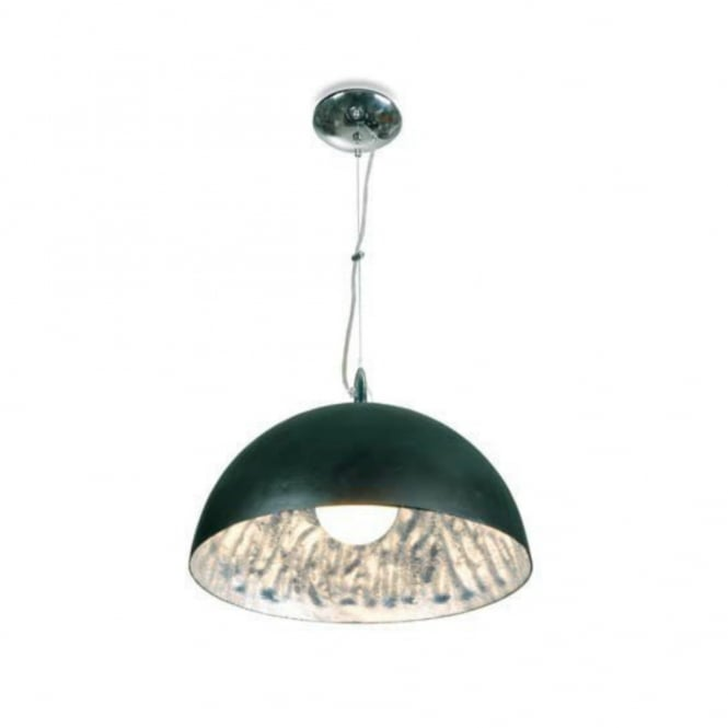 Linea Verdace MOONFACE black and silver ceiling pendant (medium)