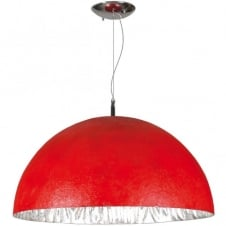 MOONFACE red ceiling pendant (medium)