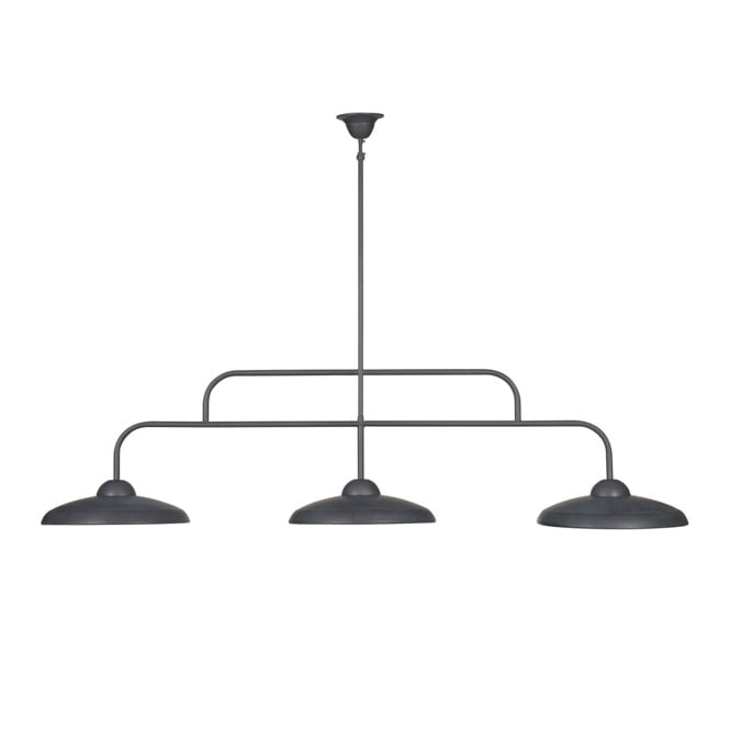 Linea Verdace OLD PHARMACY retro style 3 light dual mount ceiling light (lead metal)