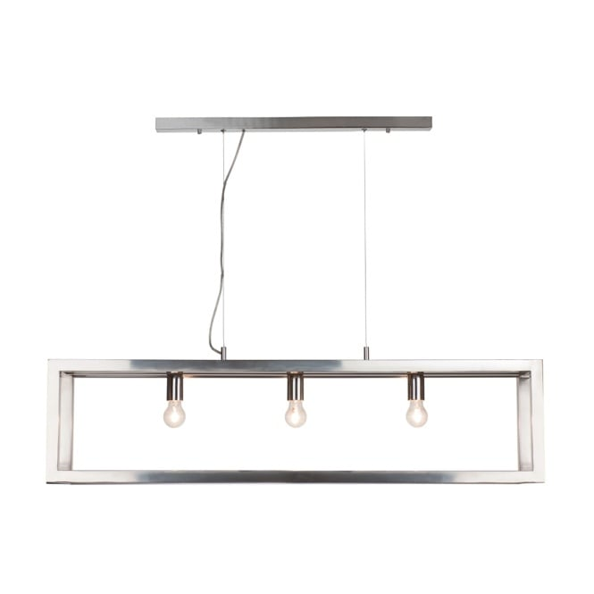 OPEN contemporary polished chrome 3 light ceiling bar pendant