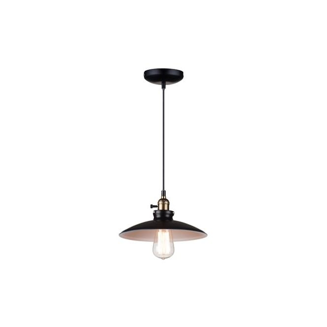 RETRO black and white ceiling pendant light (small)