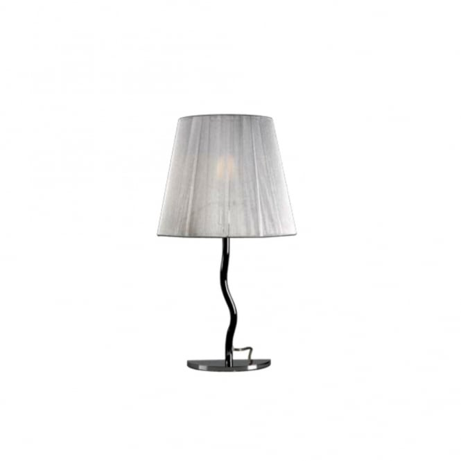 SIAM modern half design table lamp with silver thread shade