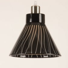 SINO black glass pendant light shade (part of a set)
