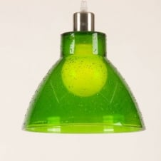 SINO green droplet effect glass pendant light shade (part of a set)