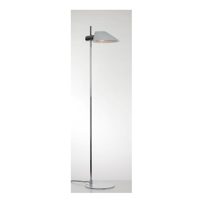 SOEUR SOURIRE contemporary polished chrome and shiny white floor lamp
