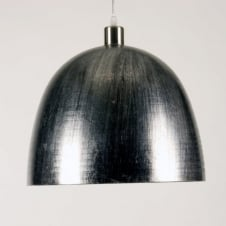 SPINTO large silver glass pendant light shade (part of a set)