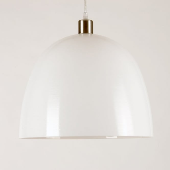 Linea Verdace SPINTO large white glass pendant light shade (part of a set)