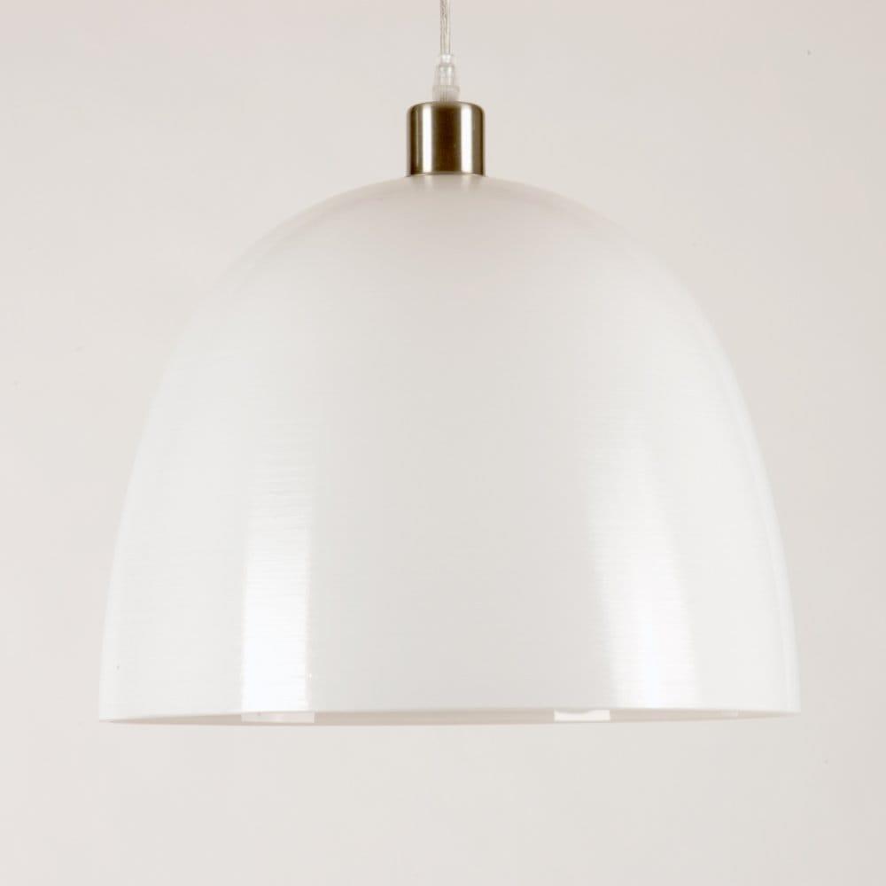 Modern White Glass Ceiling Shade For Hanging Pendant Light