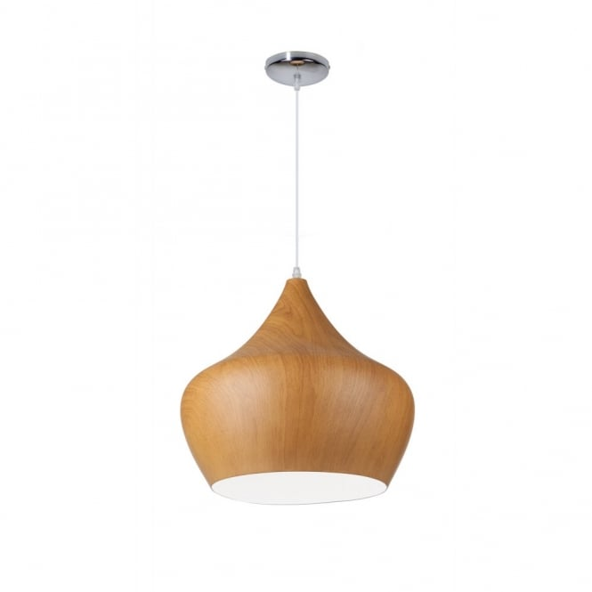 Linea Verdace TIPI contemporary tipped single wooden ceiling pendant (dark wood - large)