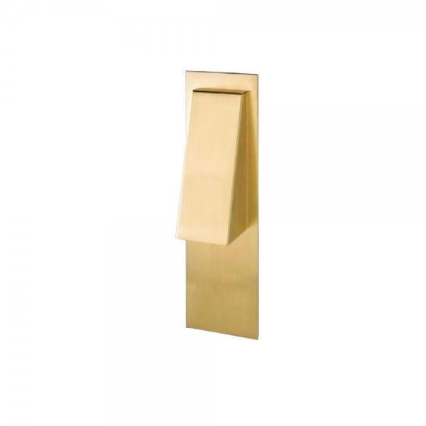 Satin Brass Wall Lights : Modern Polished Satin Brass Wall Light, Contemporary Wall Washer.