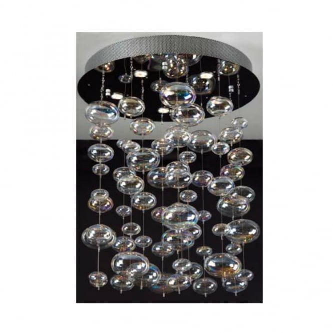 Linea Verdace X-LIGHT chrome & crystal ceiling light small (round base)