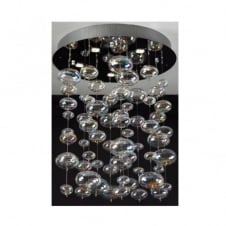 X-LIGHT chrome & crystal ceiling light small (round base)