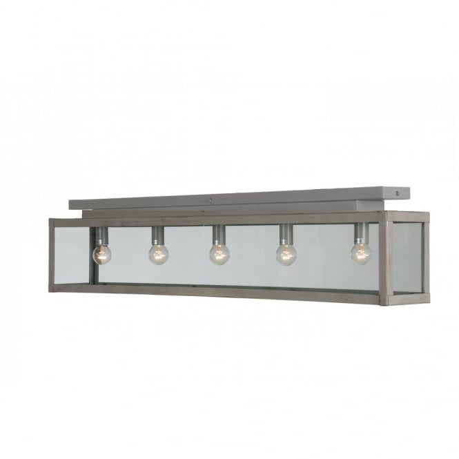 Linea Verdace ZENIA flush fitting rustic kitchen or utility ceiling light