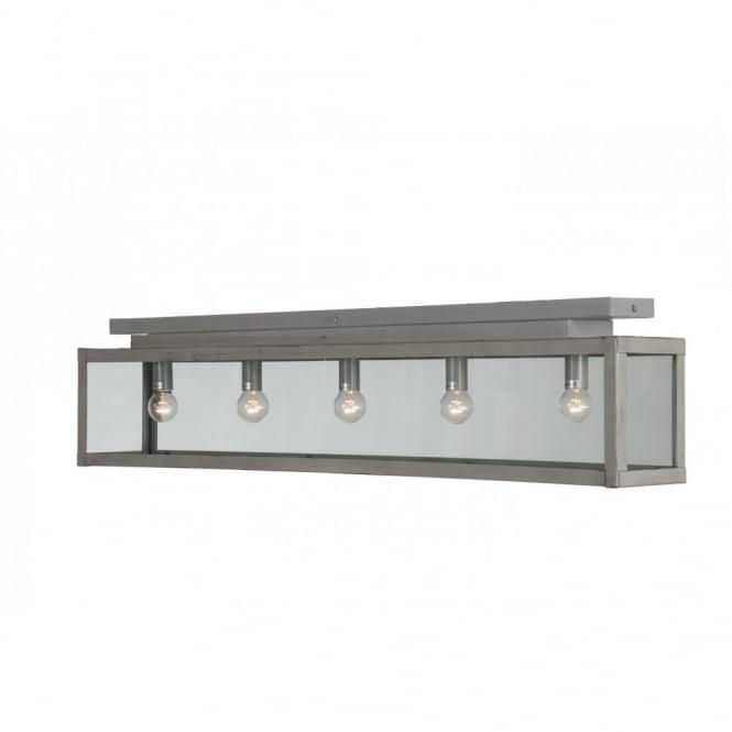 Kitchen Lighting For Low Ceilings: Long Flush Fitting Rustic Ceiling Light, Lighting For Low