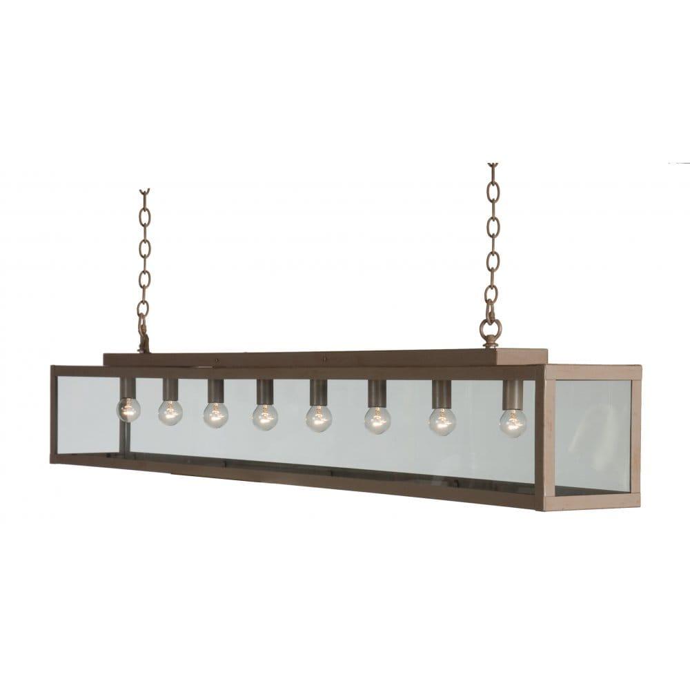 Bar pendant lighting - Linea Verdace Zenia Large Long Over Table Bar Suspension Pendant Light