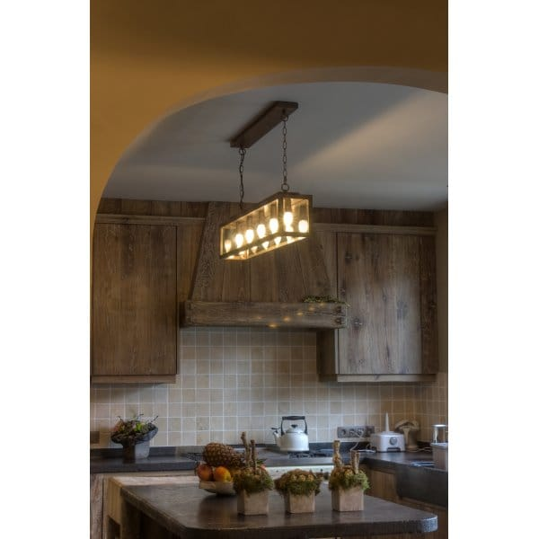 Rustic Drop Down Ceiling Pendant Light For Over Table Or