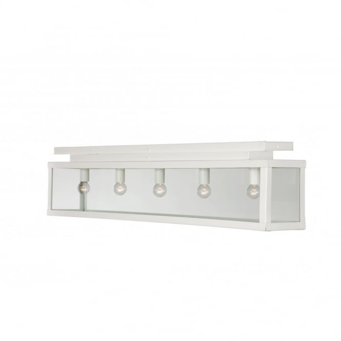 Linea Verdace ZENIA white flush fitting kitchen ceiling light