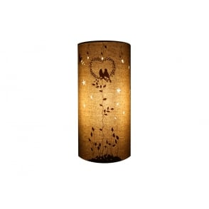 Two birds decorative fabric table lamp with cut out pattern love birds design fabric table lamp mozeypictures Images
