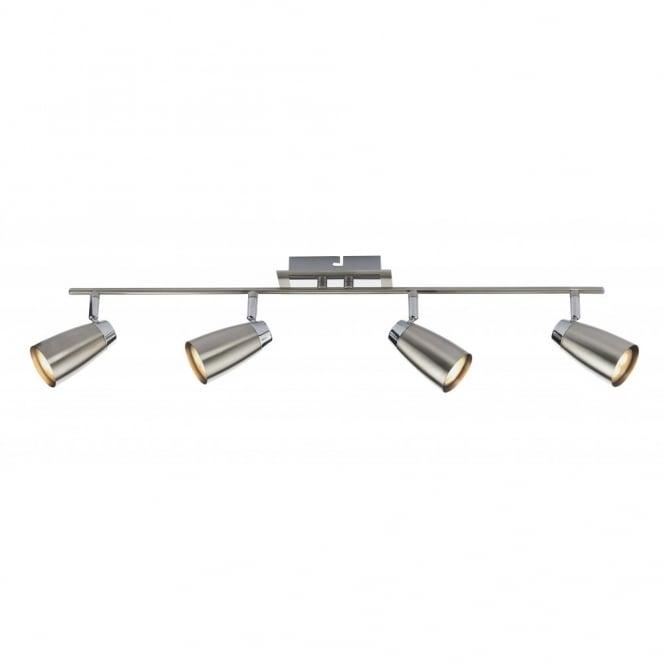 Modern 4 Way Polished Chrome Split Bar Ceiling Light Spotlight