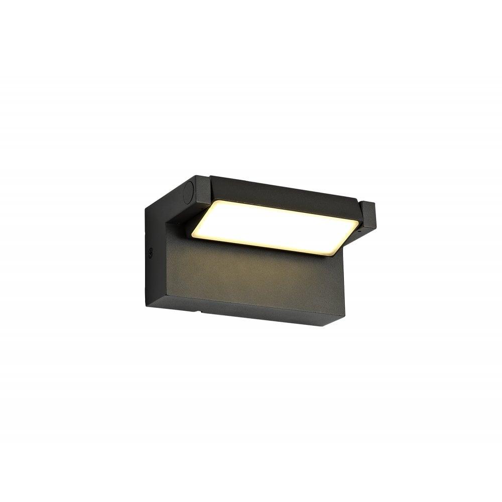 Modern Adjustable Graphite Black LED Outdoor Wall Light