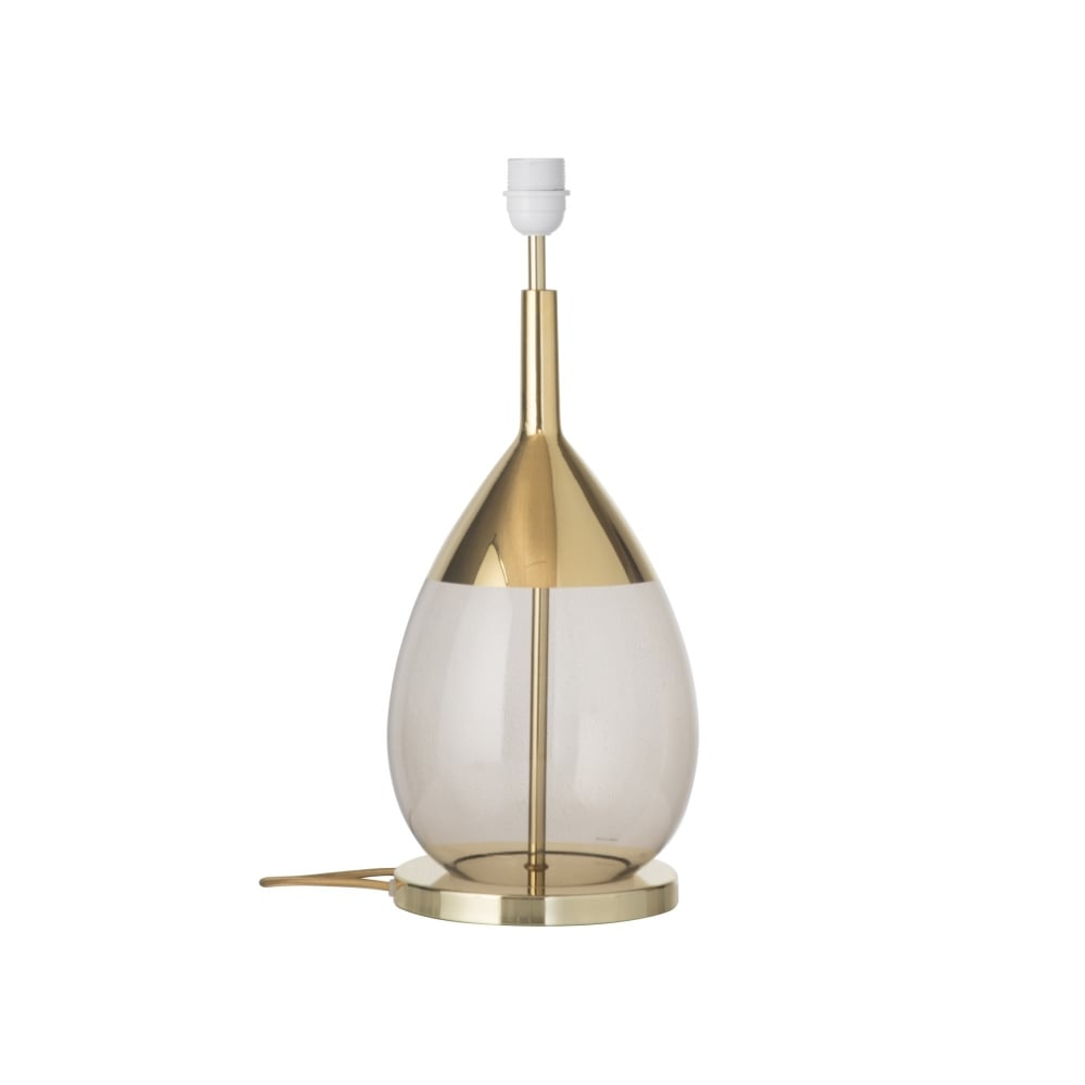 Chestnut Brown Glass Table Lamp With Gold Detailing