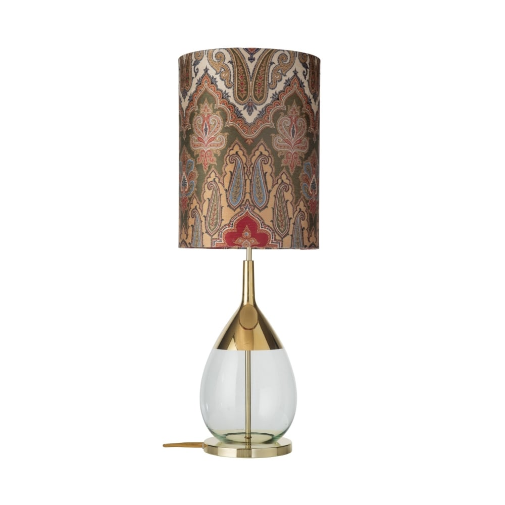 Green glass table lamp with gold detailing lighting company green glass and gold table lamp base mozeypictures Gallery
