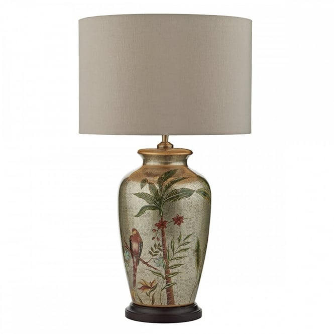 Buy lamps uk a table lamp depicting birds flowers and tropical statement table lamp depicting birds parrot flowers mozeypictures Choice Image