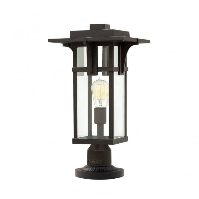 Vintage industrial outdoor pedestal light in oil rubbed bronze finish vintage exterior pedestal light in oil rubbed bronze finish ip44 mozeypictures Image collections