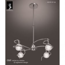 DALI modern adjustable height chrome ceiling pendant light