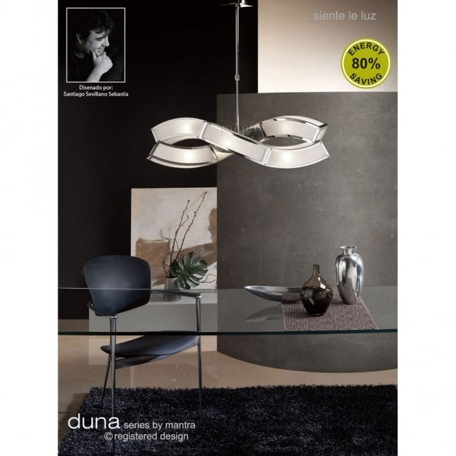 Mantra DUNA contemporary low energy suspended ceiling pendant light