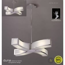 DUNA modern low energy ceiling pendant suitable for low ceilings