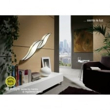 WAVE modern low energy white & chrome wall or ceiling light