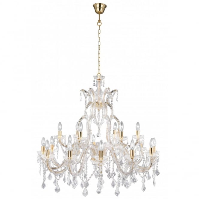 Buy large crystal chandelier light fitting for high ceilings from a marie therese large brass gold crystal chandelier aloadofball Images