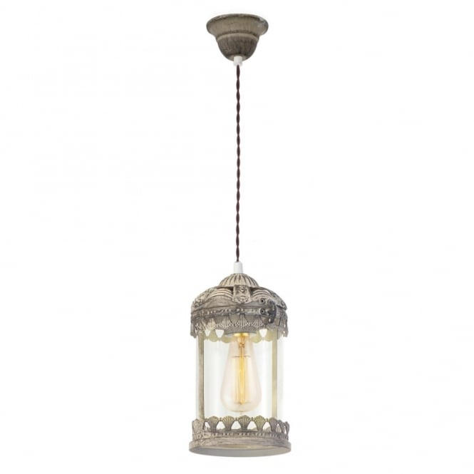 MARRAKECH decorative rustic ceiling pendant in patina brown