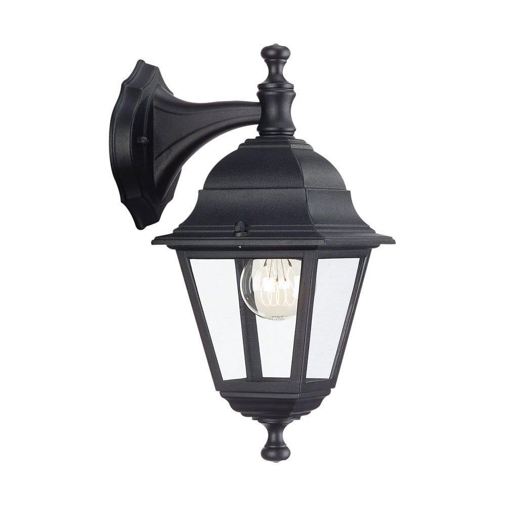 Garden Wall Light in Black Aluminium, IP44 Exterior Garden Lantern