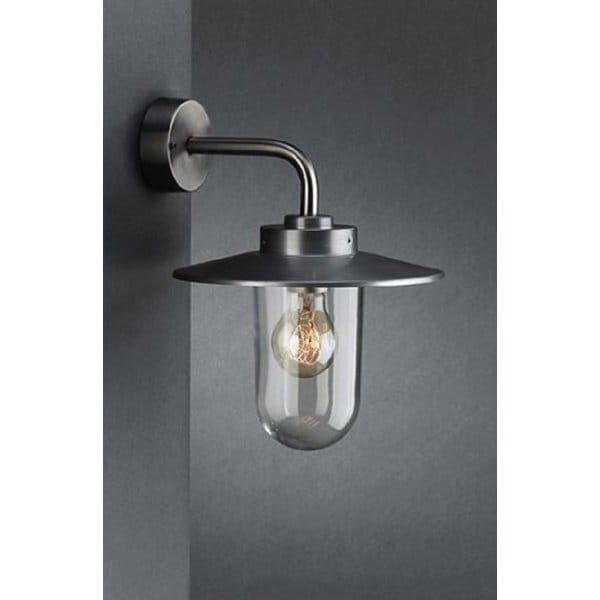 Bathroom Wall Sconces Vancouver: Brushed Stainless Steel Lantern Contemporary Exterior