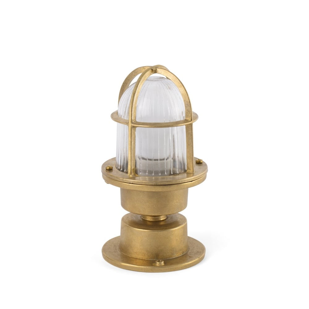 Coastal style brass outdoor light with ribbed glass lighting company brass outdoor light with ribbed glass and cage surround workwithnaturefo