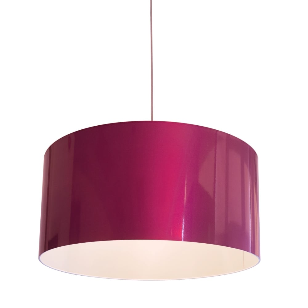 Contemporary pink metallic vinyl pendant shade lighting company pink vinyl pendant shade aloadofball Image collections