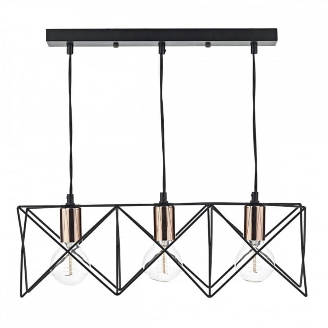 Geometric Retro Pendant Light Fitting Best For Over Tables Or Bars - Over table ceiling lights