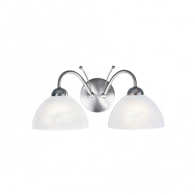 MILANESE double wall light, satin silver