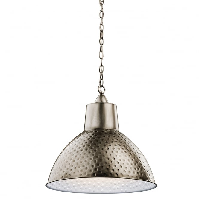 MISSOULA hammered metal ceiling pendant in antique pewter