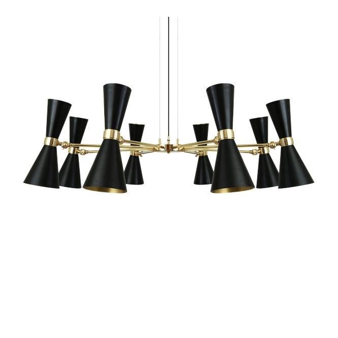Monaghan Lighting CAIRO 8 Arm Contemporary Chandelier in Powder Coated Matte Black