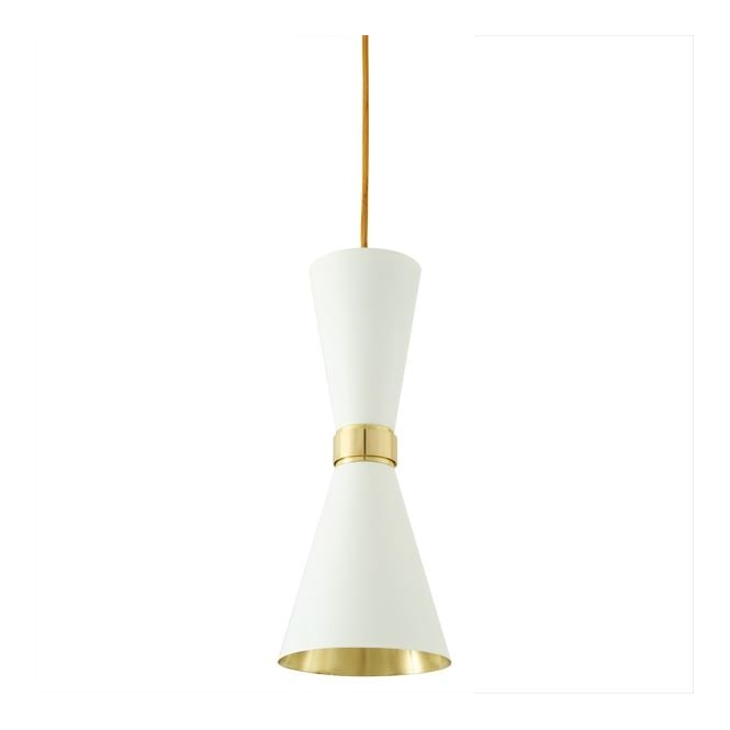Monaghan Lighting CAIRO Contemporary Pendant Light in Powder Coated White