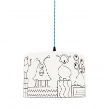 Kid's Colour Me MONSTERS Lampshade