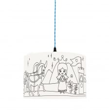 Kid's Colour Me PRINCESS Lampshade