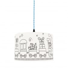 Kid's Colour Me SWEET WAGONS Lampshade